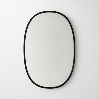 Umbra Hub Black Oval Mirror