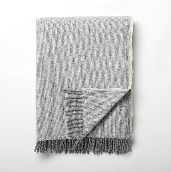 Faribault Jackson Gray Wool Blanket
