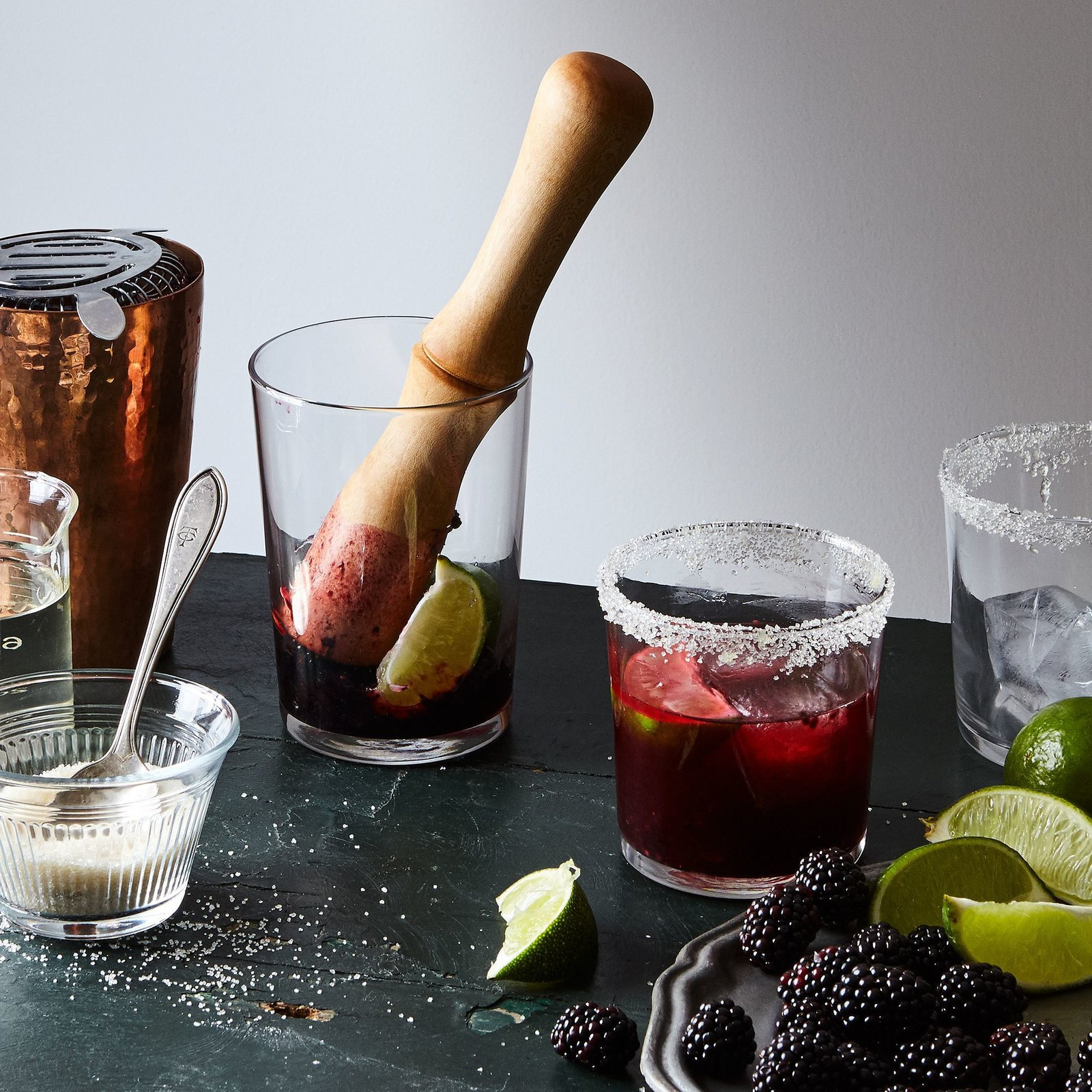 Blanc Creatives Lathe-Turned Wood Cocktail Muddler