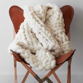 The Citizenry Nublado Wool Throw - Ivory