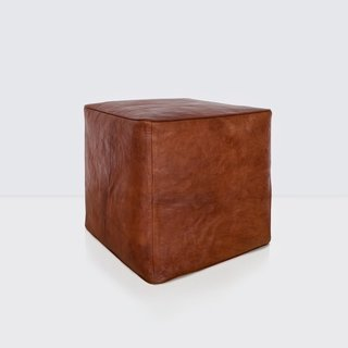 The Citizenry Riad Leather Ottoman