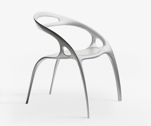 The Go Chair was designed by Ross Lovegrove.