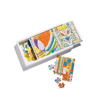 Galison Frank Lloyd Wright Wooden Jigsaw Puzzle Set