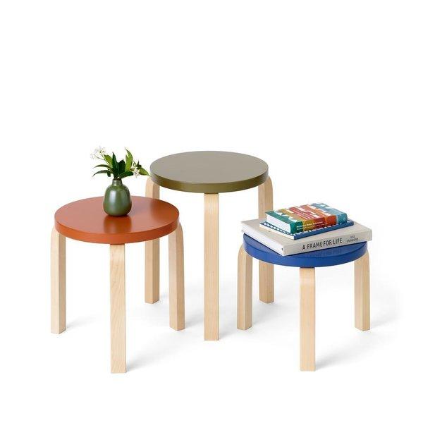 Artek + Heath Ceramics Stool 60 Nesting Set