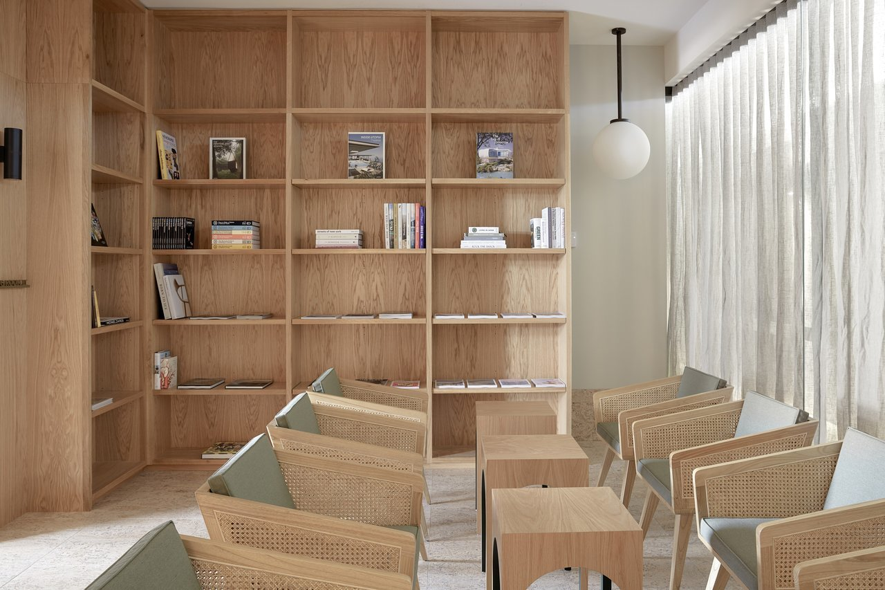 Office, Chair, Library Room Type, and Shelves  The Calile Hotel