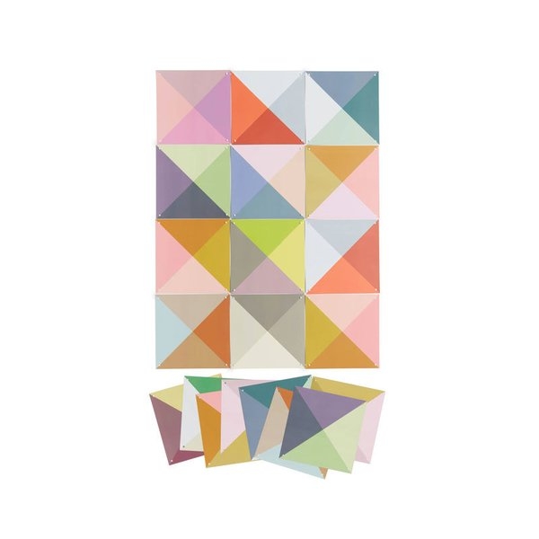 IXXI Loco Color 25-Piece Paper Wall Art Set