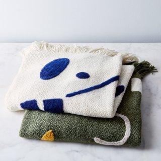 MINNA Handwoven Merino Wool Abstract Throw