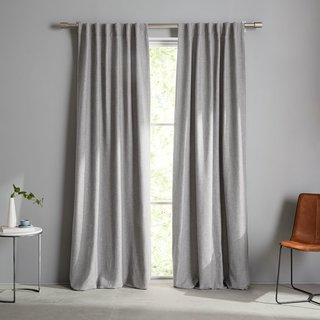 West Elm Crossweave Curtain - Stone White