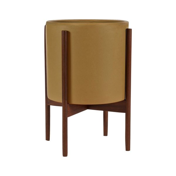 Modernica Case Study Ceramic Cylinder With Stand (Mustard)