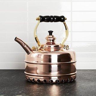 Crate & Barrel Richmond No. 3 Copper Gas Tea Kettle
