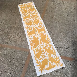 Otomi Embroidered Long Table Runner