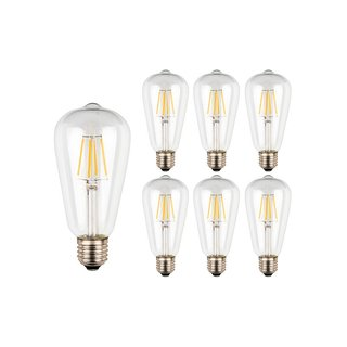 Ascher E26 Vintage Filament LED Bulbs - Pack of 6