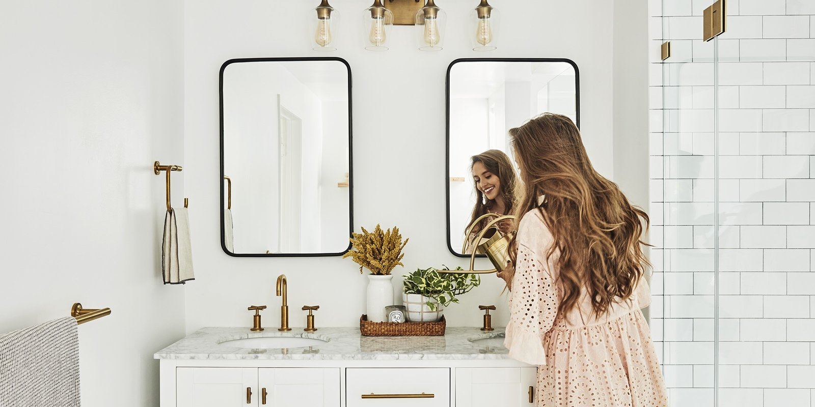 Bathrooms We Love: Beauty Vlogger Kristin Johns Showcases Her Glistening Bathroom in Los Angeles