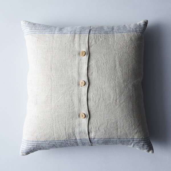 Farmhouse Pottery Agrarian Striped Linen Pillow