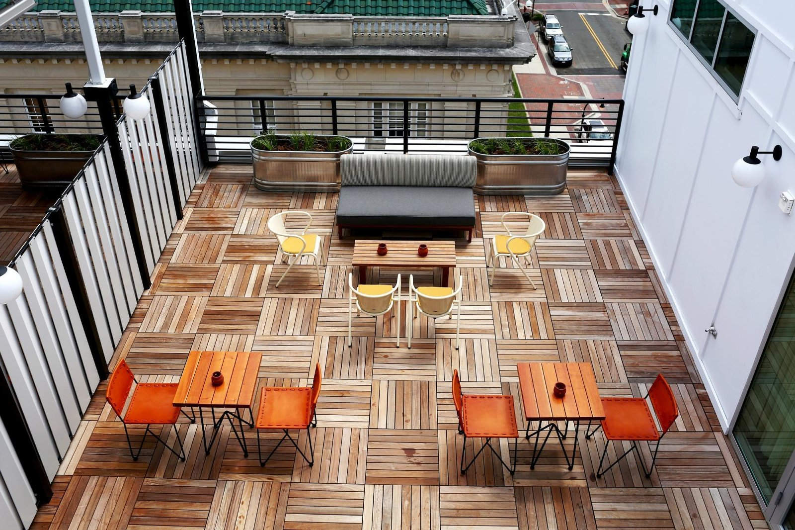 Outdoor, Rooftop, and Large Patio, Porch, Deck  The Durham Hotel