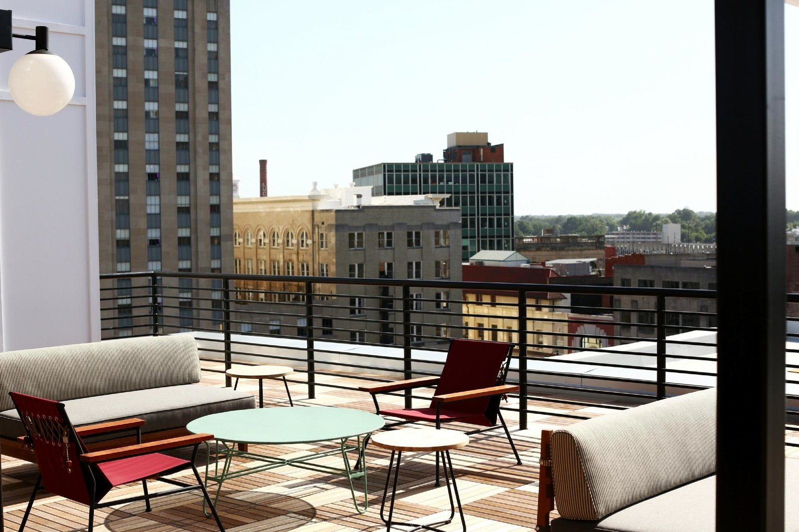 Outdoor, Large Patio, Porch, Deck, and Rooftop  The Durham Hotel