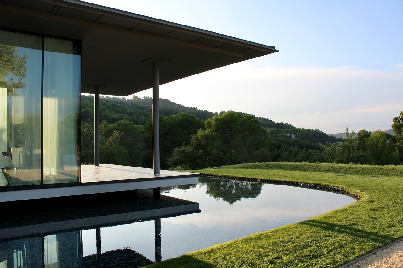 Outdoor, Grass, and Small Patio, Porch, Deck  Villa La Coste