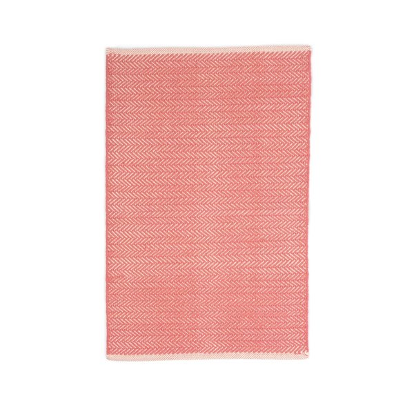 Dash & Albert Herringbone Rug in Coral
