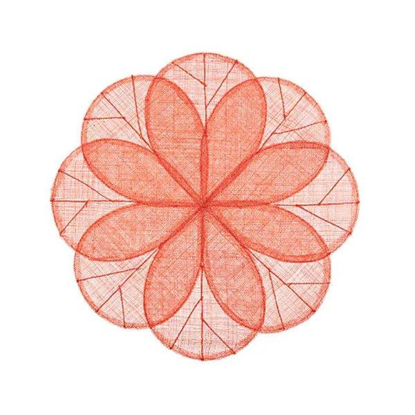 Deborah Rhodes Sinamay Flower Placemat