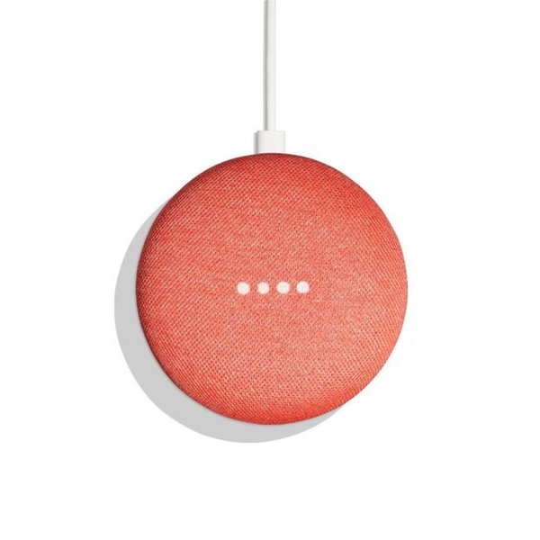 Google Home Mini in Coral Red