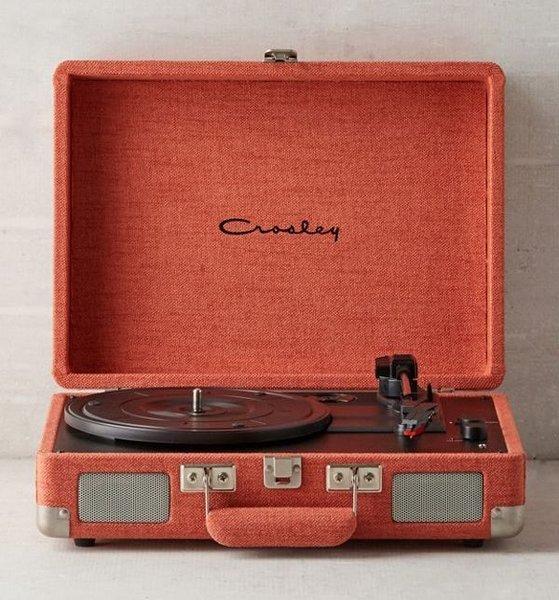 Crosley UO Exclusive Coral Canvas Cruiser Bluetooth Record Player