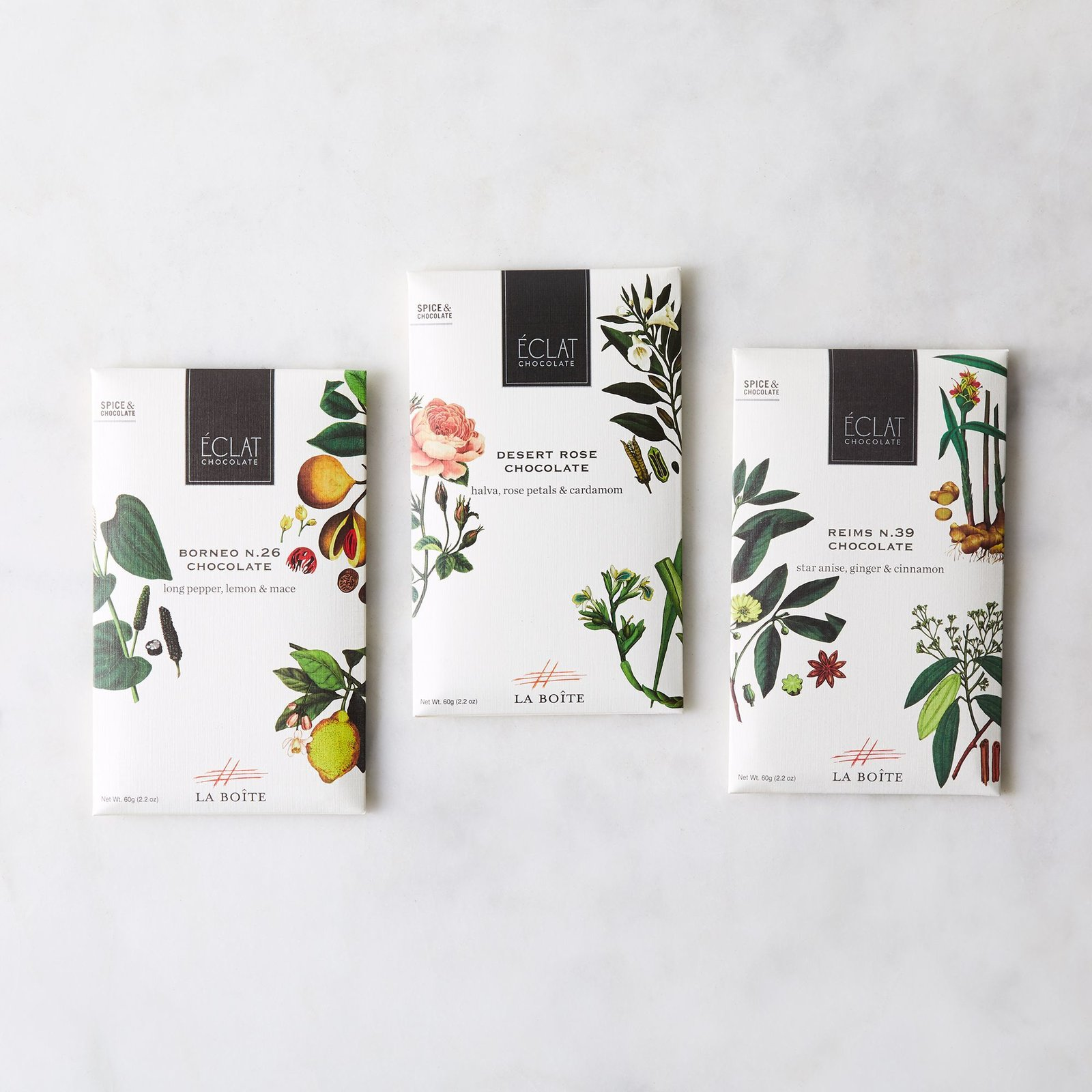 La Boîte Spiced Infused Chocolate Bar (Set of 3)