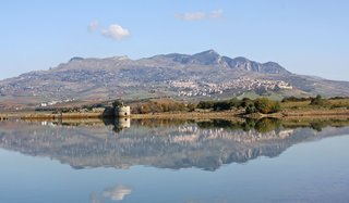 A view of Sambuca, Sicily, from afar.