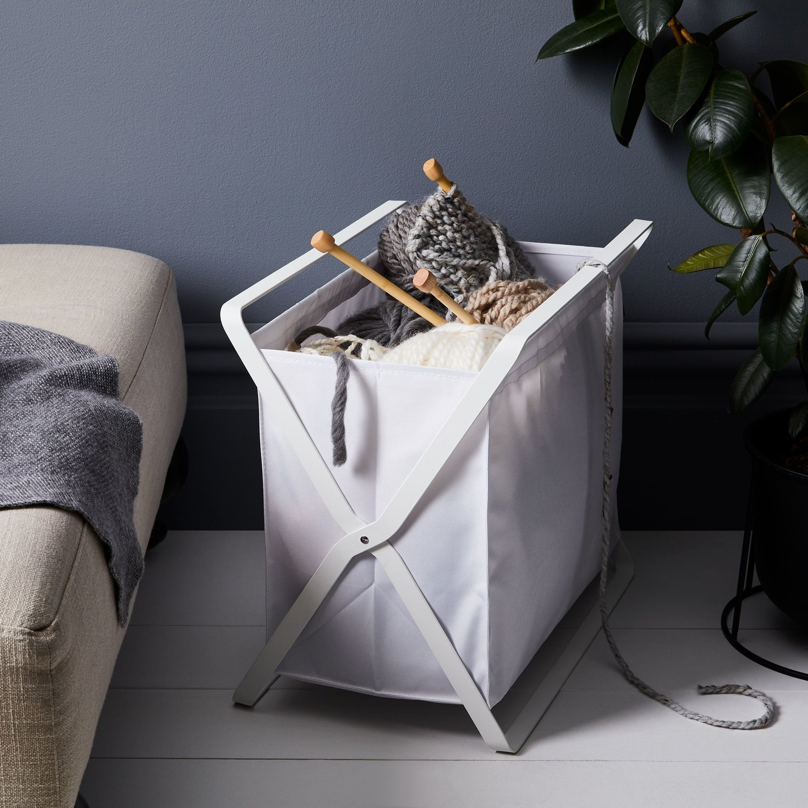 Yamazaki Collapsible Storage Bin from 12 Chic Storage Bins to Spark Joy in Your Home