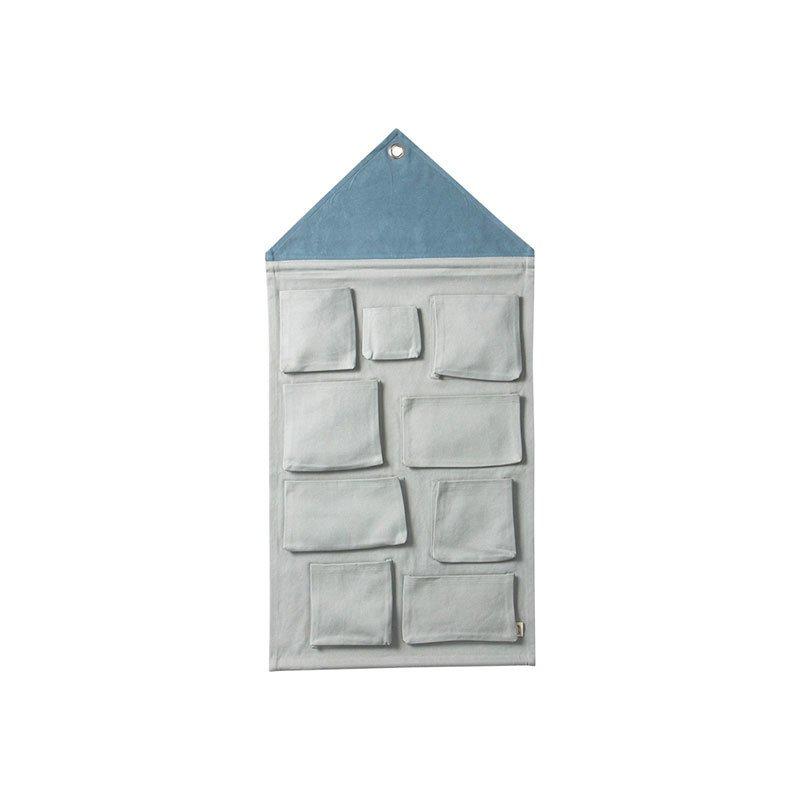 Ferm Living House Wall Storage - Dusty Blue