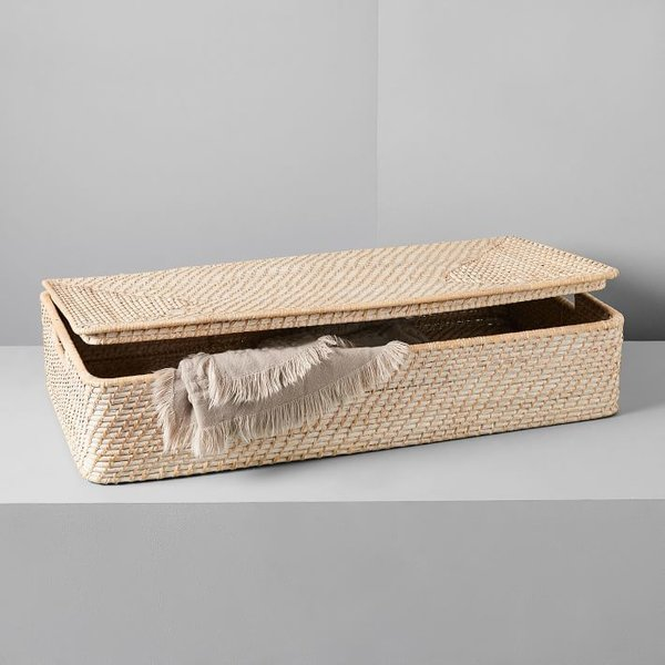 West Elm Underbed Storage Basket