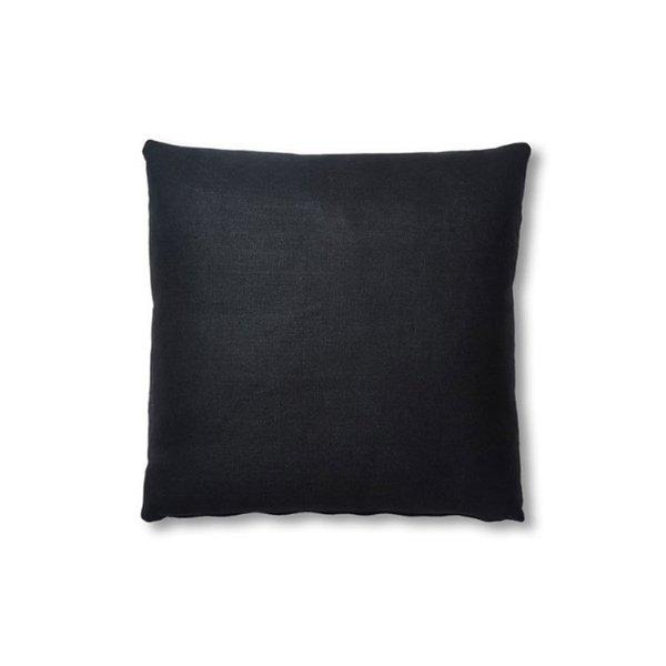 One Kings Lane Hazel Pillow, Black Linen