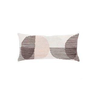 Salm 10x21 Lumbar Pillow, Pink/Ivory Linen