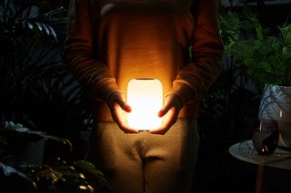 Casper's Glow Light is powered by a rechargeable battery and needs to be set up with a smartphone app.