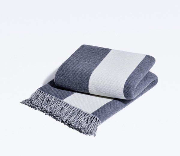 Snowe Striped Throw Blanket
