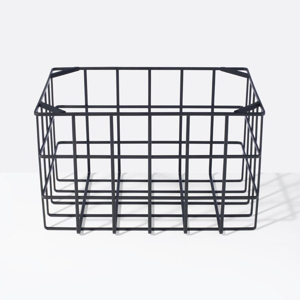 Yamazaki Tower Black Large Stackable Basket