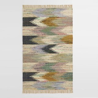 World Market Multicolor Abstract Chevron Cotton Kilim Sedona Area Rug