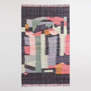 World Market Black Multicolor Abstract Cotton Chindi Cordes Area Rug