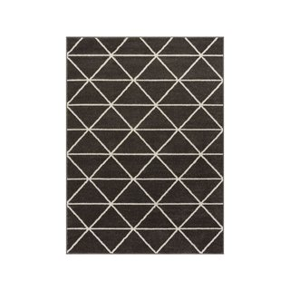 Well Woven Dulce Antrasit Modern Geometric Rug