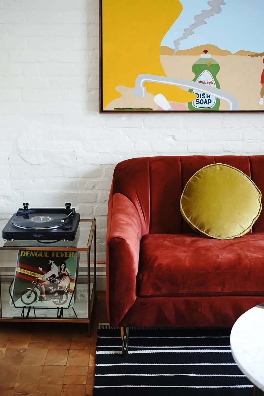 Living Room, End Tables, Sofa, Rug Floor, and Coffee Tables  Best Photos from Gold-Diggers