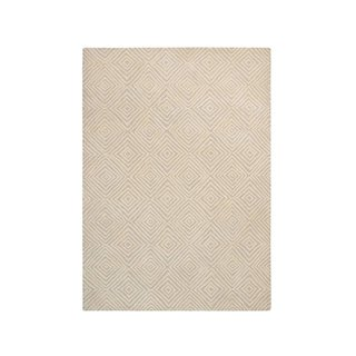 "Rivet Contemporary Diamond Patterned Rug, 5' 9"" x 3' 9"", Taupe, Ivory"