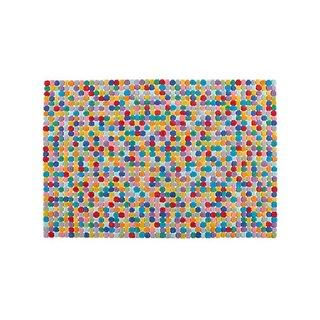 Crate & Barrel Rainbow Dot Rug
