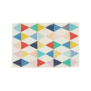 Crate & Barrel Colorful Triangle Rug