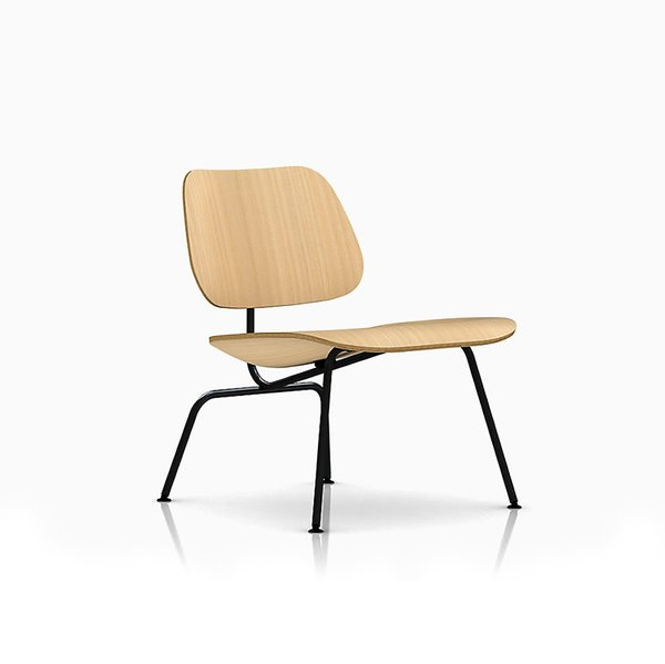 Eames Molded Plywood Lounge Chair with Wire Base