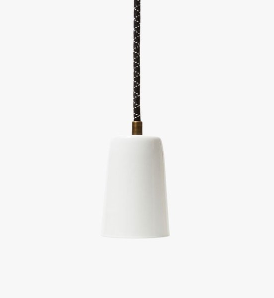 Conway Electric Fremont Spun Pendant Light in White