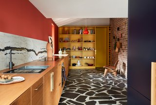The interior of the Polychrome House pops with color and pattern.