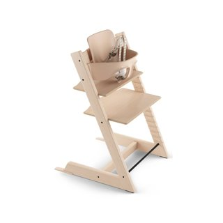 Stokke Natural Tripp Trapp Chair and Baby Set