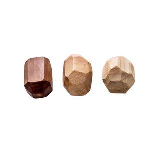 Clover and Birch Set of Three Wooden Geode Rattles