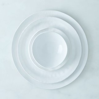Looks Like White Handmade Porcelain Textured Dinnerware