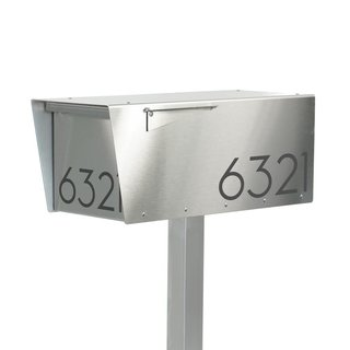 Vsons Design Anthony S Post Mounted Modern Mailbox