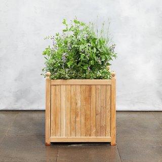 Terrain Teak Slatted Planter